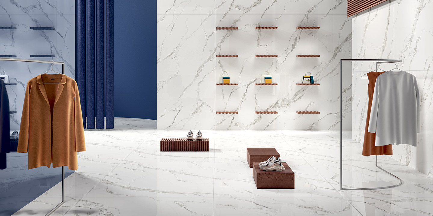 Porcelain floor and wall coverings from the Fiandre collections