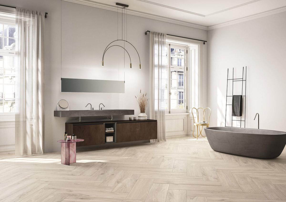 Arredo Bagno Vignate wood effect porcelain for interiors and exteriors - bois urbain