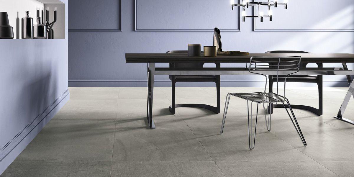 Cloudy core Core shade, grey resin/concrete effect porcelain tiles