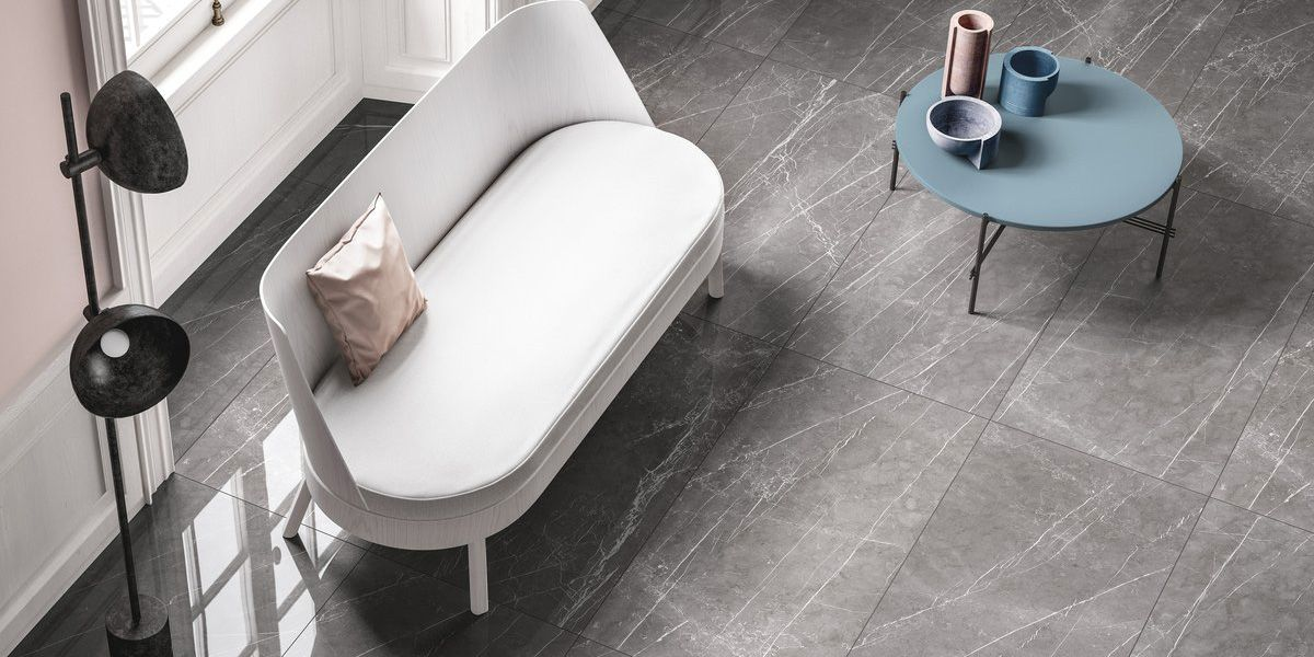 Pietra grey Marble lab, grey marble effect floor and wall coverings