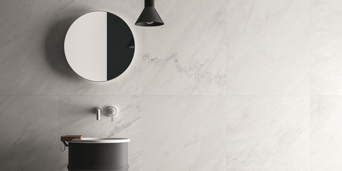 Premium White Marble Lab Effect Floor And Wall Coverings