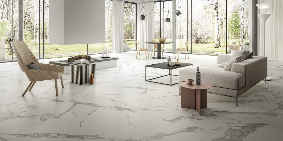 Calacatta Light Marmi Maximum White Marble Granite Effect