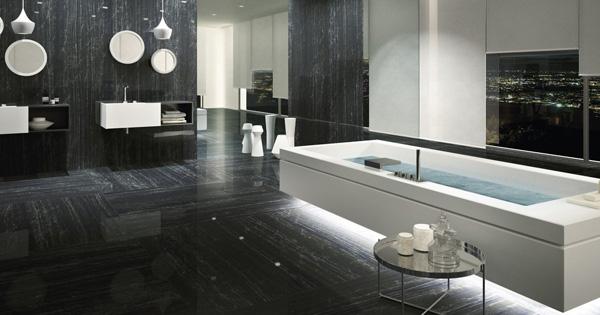 Black Porcelain Tiles Nero Supremo Marmi Maximum