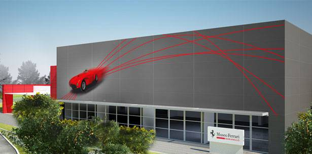 THE NEW FERRARI MUSEUM OPENS IN MARANELLO