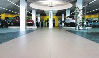 porcelain tile flooring for car dealers and car showroom granitifiandre. Black Bedroom Furniture Sets. Home Design Ideas