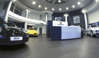 Porcelain Tile Flooring For Car Dealers And Car Showroom
