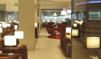 KLM CROWN LOUNGE AT AIRPORT SCHIPHOL
