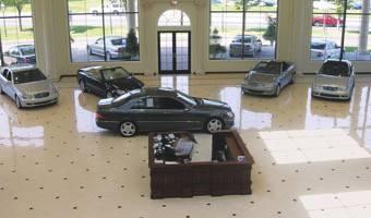 Porcelain Tile Flooring For Car Dealers And Car Showroom